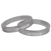 "FSA PolyCarbonate Headset Spacers - 1 1/8"" x 5mm Each (Grey)"