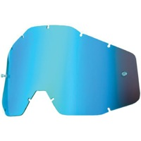 100% Goggles Replacement Lenses - Dual Lens (Blue Mirror)