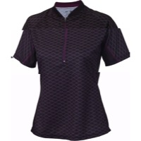 Whisky Parts Co. Women's #5 Grid Jersey - Black - Large (Black)