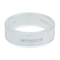 "FSA PolyCarbonate Headset Spacers - 1 1/8"" x 10mm Each (Clear)"