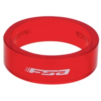 "FSA PolyCarbonate Headset Spacers - 1 1/8"" x 10mm Each (Red)"