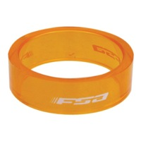 "FSA PolyCarbonate Headset Spacers - 1 1/8"" x 10mm Each (Orange)"