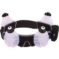 Fuelbelt Revenge 4-Bottle Hydration Belt - Black - Large (Black)