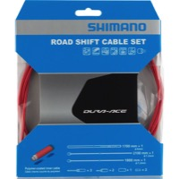 Shimano Dura-Ace SP41 Poly-Coated Shift Cables - Red Housing (Cable Set)