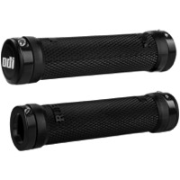 ODI Ruffian Lock-On Grips - Bonus Pack (Black Grips/Black Clamps)