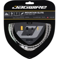 Jagwire Mountain Elite Link Shift Cable Set 2016 - Teflon Coated Cables - Kit, Teflon Coated Cables (Silver Housing)
