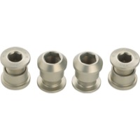 Wolf Tooth Components Chainring Bolt/Nut Sets - 8 Piece (Silver)