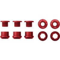 Wolf Tooth Components Chainring Bolt/Nut Sets - 10 Piece (Red)
