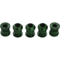 Wolf Tooth Components Chainring Bolt/Nut Sets - 10 Piece (Green)