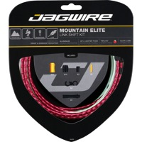 Jagwire Mountain Elite Link Shift Cable Set 2016 - Teflon Coated Cables - Kit, Teflon Coated Cables (Red Housing)