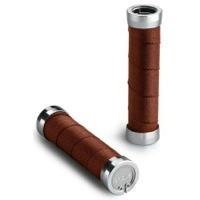 Brooks Cambium Twist Shift Slender Grips - 130mm and 100mm Length - Pair (Rust)