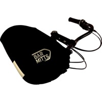 Bar Mitts Mustache/Townie Pogie Handlebar Mittens - One Size (Black)