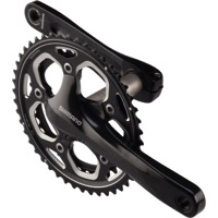 Shimano FC-RS500 Double Crankset - 11 Speed - 165mm x 36/46t (Black)