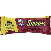 Honey Stinger 10g Protein Bar - Dark Chocolate Mocha Cherry w/Caffeine (Box of 15)