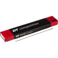 DT Swiss Competition Race Black Spokes - Double butted 2.0/1.6/2.0mm - 256mm (Black)