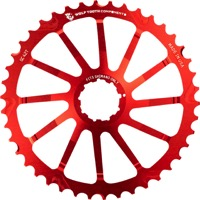 Wolf Tooth Components GC 40/42 Cogs - 10 Speed Shimano/Sram - 40 Tooth, Red (Shimano 36t Compatible)