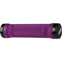 ODI Ruffian Lock-On Grips - Bonus Pack (Purple Grips/Black Clamps)