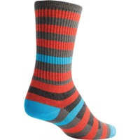 SockGuy Metro Crew Socks - Orange/Gray - Small/Medium (Orange/Gray)