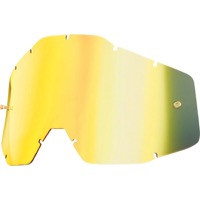 100% Goggles Replacement Lenses - Single Lens (Gold Mirror)