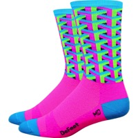 "DeFeet Aireator 6"" Framework Socks - Pink - Small (Pink)"