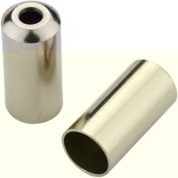 Jagwire Open Housing End Caps - 5mm Steel (Chrome) Bottle/200