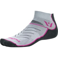 Swiftwick Vibe One Socks - Pewter/Pink/Gray - Small (Pewter/Pink/Gray)