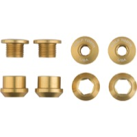Wolf Tooth Components Chainring Bolt/Nut Sets - 8 Piece (Gold)