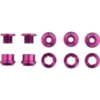 Wolf Tooth Components Chainring Bolt/Nut Sets - 10 Piece (Purple)