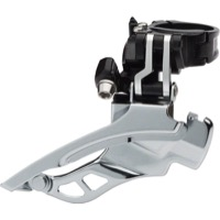 MicroSift XE Marvo Triple Front Derailleur - 9 Speed - Silver/Black (34.9 Clamp)