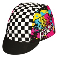 Pace Peloton Cycling Cap - Black/White/Pink - One Size Fits All (Black/White/Pink)