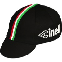 Pace Cinelli Italia Cycling Cap - One Size Fits All (Black)