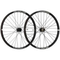 "Spank Oozy Trail 395+ ""Boost"" 29"" Wheelset - Front, 15x110mm TA / Rear, 12x148mm TA, Shimano HG (Black)"