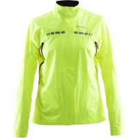 Craft Women's Escape Rain Jacket - High Vis Yellow - Large (High Vis Yellow)