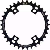 North Shore Billet Variable Tooth Chainrings - 96mm x 36t (Black)
