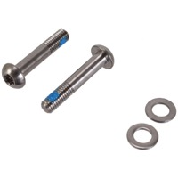 Sram/Avid Flat Mount Disc Brake Adapters and Hardw - 27mm T25 Mounting Bolts, Pair (Titanium)