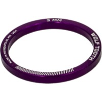 "Wolf Tooth Components Headset Spacers - 1 1/8"" x 3mm Bag of 5 (Purple)"