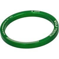 "Wolf Tooth Components Headset Spacers - 1 1/8"" x 3mm Bag of 5 (Green)"