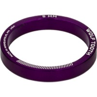 "Wolf Tooth Components Headset Spacers - 1 1/8"" x 5mm Bag of 5 (Purple)"