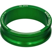 "Wolf Tooth Components Headset Spacers - 1 1/8"" x 10mm Bag of 5 (Green)"