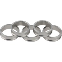 "Wolf Tooth Components Headset Spacers - 1 1/8"" x 10mm Bag of 5 (Silver)"