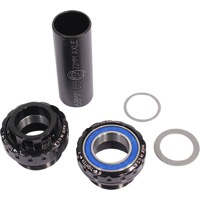 Profile Racing Outboard Bearing Bottom Bracket - Euro BB Set, Fits 22mm spindle (Black)