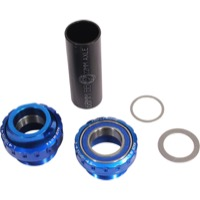 Profile Racing Outboard Bearing Bottom Bracket - Euro BB Set, Fits 22mm spindle (Blue)