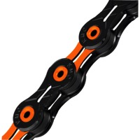 KMC X-11SL DLC Superlight Chains - 11 Speed (Black/Orange)