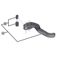 Shimano Master Cylinder and Lever Parts - Left Lever Blade Unit (XTR M9000)