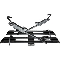 RockyMounts SplitRail Platform Hitch Rack - 2 Bike Rack (Black)