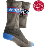 "SockGuy Wheelie Crew Socks - 6"" Crew Cuff - Small/Medium (Gray)"