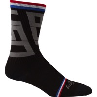 "SockGuy Stealth Crew Socks - 6"" Crew Cuff - Small/Medium (Black)"