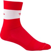"DeFeet Aireator 5"" Team Socks - Red/White Stripe - Large (Red/White Stripe)"