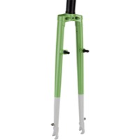 "All-City Nature Boy Straight Blade Cross Fork - 1 1/8"" Threadless (Lime/White)"
