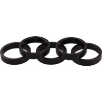 "Wheels Manufacturing Alloy Headset Spacers - 1 1/8"" x 7.5mm Bag of 5 (Black)"